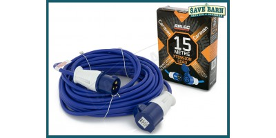 Caravan Extension Lead Cord 15M 16A Arlec