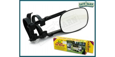 XL Caravan Towing Mirror Clamp On Wide Vision for 4x4's