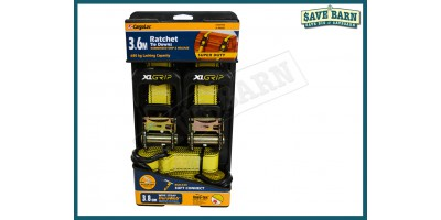 Ratchet Tie Down Super Duty 3.6m 680kg TWIN PACK