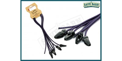 Tie Down Locking Bungee Strap 4 pack PROUT 60cm - PURPLE
