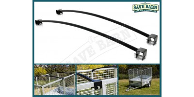 4' Wide Caged Trailer Roof Bar x2 - 1.3m