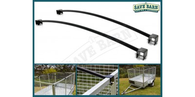 5' Wide Caged Trailer Roof Bar x2 - 1.6m