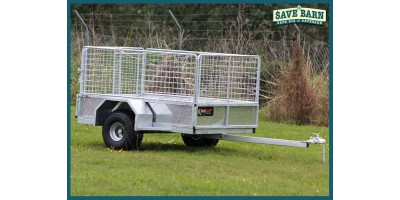 Farm Trailer ATV All Terrain Stock 6x4 Caged