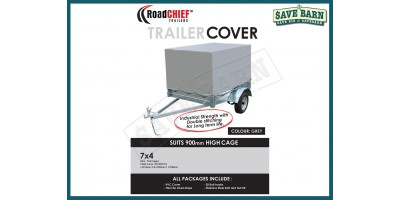 7x4 Trailer Cover 900mm High Cage 600gsm ROADCHIEF