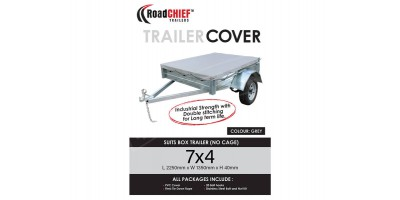 7x4 Trailer Cover - Box Sides 600gsm - New Model ROADCHIEF