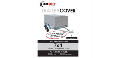7x4 Trailer Cover 600mm High Cage 600gsm - New Model ROADCHIEF