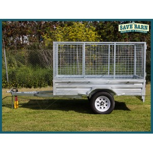 TRAILER 7x4 TILTING CAGED SINGLE AXLE