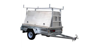 7x4 Aluminium Tradies Top / Builders Canopy Removable Shelf & Roof Rack