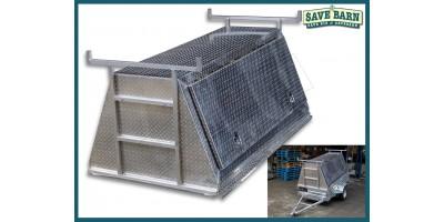 7x4 Aluminium Tradies Top / Builders Canopy
