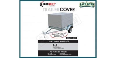 8x4 Trailer Cover 900mm High Cage 600gsm ROADCHIEF