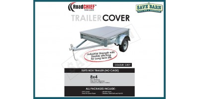 8x4 Trailer Cover 40mm High Box Sided 600gsm ROADCHIEF