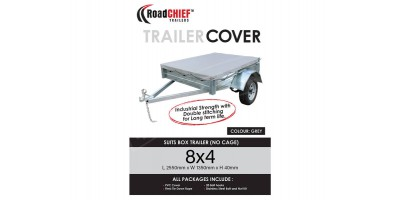8x4 Trailer Cover 40mm High Box Sided 600gsm - New Model ROADCHIEF
