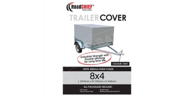 8x4 Trailer Cover 600mm High Cage 600gsm - New Model ROADCHIEF