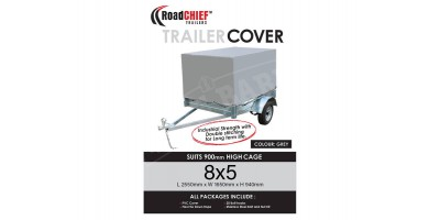 8x5 Trailer Cover 900mm High Cage 600gsm ROADCHIEF