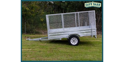 Trailer 8x5 Cage Single Axle Rear Loading Ramp
