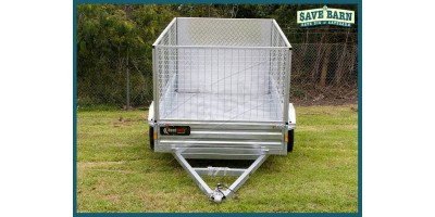 Trailer 8x5 Cage Single Axle Rear Loading Ramp