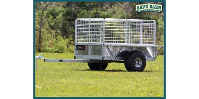 Farm Trailer ATV All Terrain Stock 5x4 Caged