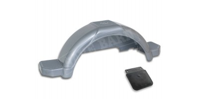 "Trailer Wheel Guard 14"" Heavy Duty Plastic - GREY"