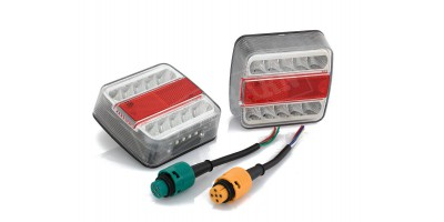 LED Rear Trailer Lights Submersible - Twin Pack