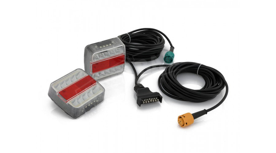 Remarkable Led Rear Trailer Lights Submersible 2 Pack 7M Leads Wiring Cloud Hisonuggs Outletorg