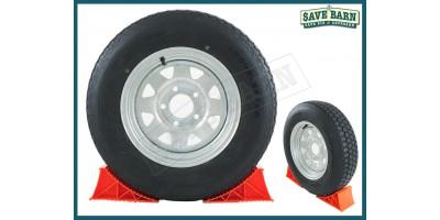 "Trailer Wheels Galv. Tubeless Radial Tyres 13"" x2"