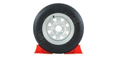 """Trailer Wheel Tubeless Radial Tyre 13"""" 165R13LT - Galvanised Rim"""