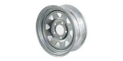 """Galvanised Trailer Wheel Rim 13"""" x2"""