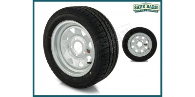 "Trailer Rim & Tyre 13"" Low Profile 195/50R13C"