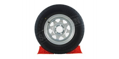 Galvanised Trailer Wheel Tubeless Radial Tyre 14""