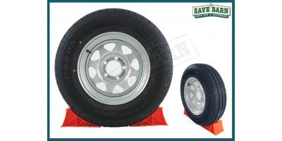 "Trailer Wheels Galv. Tubeless Radial Tyres 14"" x2"