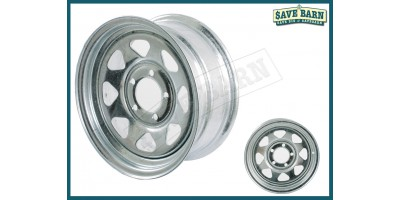 """Galvanised Trailer Wheel Rim 14"""" x2 (pair)"""