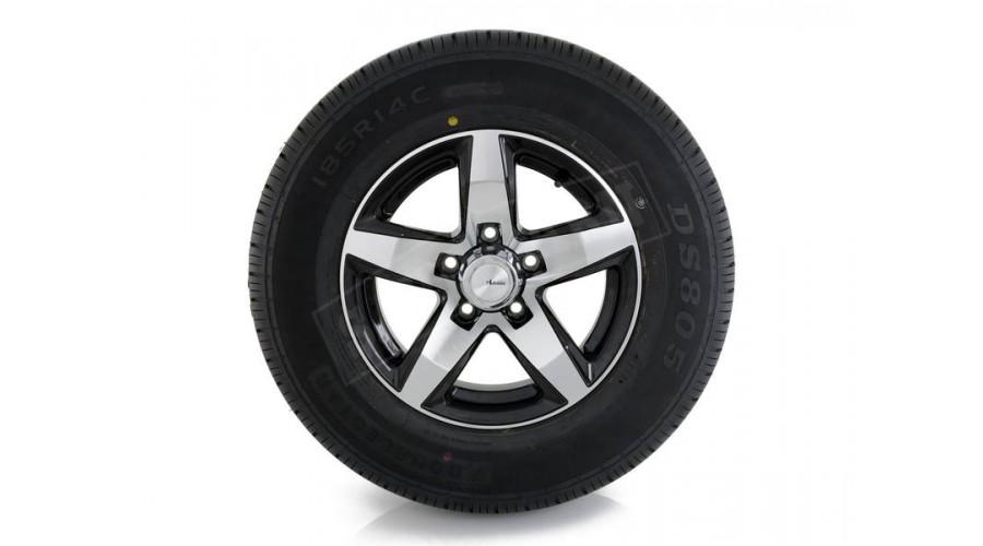 "14"" ADVANTI Mag Trailer Wheel + Tyre hello"