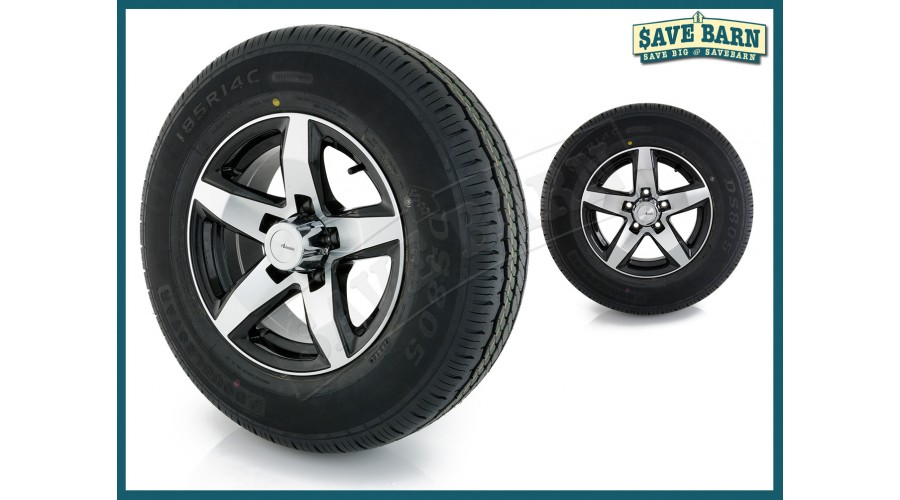 "14"" ADVANTI Mag Trailer Wheel + Doublestar Tyre hello"