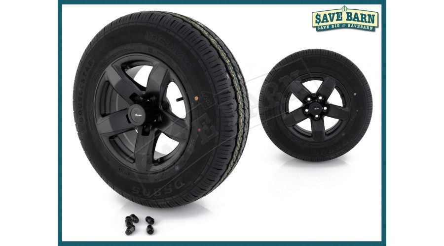 "2x 14"" ADVANTI Mag Trailer Wheel + Doublestar Tyre hello"
