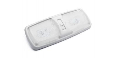 12V Double LED Interior Dome Light for RVs, Motorhomes, Campers, Caravans